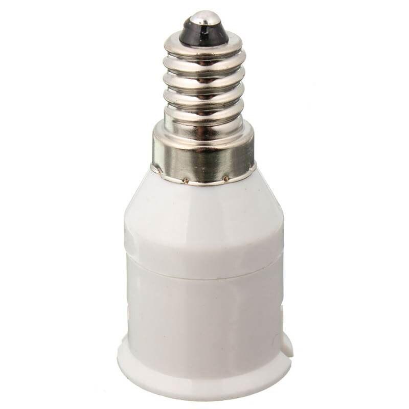 1Pcs 220-230V E14 To B22 Lamp Base Socket Conversion Lamp Holder Convertor Adapter LED Light Bulb Lamp Bases White