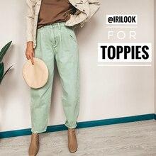 Джинсовые женские штаны с высокой талией, шаровары,, свободные джинсы размера плюс, женские повседневные уличные брюки, Pantalon, Femme