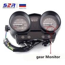 Velocímetro para motocicleta, velocímetro para yamaha yb125z, instrumento medidor ybr fator ybr125 yjm125 hornet, odômetro