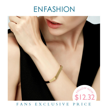 Enfashion Personalized Engraved Name Bracelet Gold Color Bar Screw Bangles Lovers Bracelets For Women Men Cuff Bracelets B4003-M enfashion personalized custom engrave name bracelet stainless steel flat bar cuff bracelet gold color charm bracelets for women