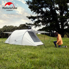 Naturehike Cloud Up Series 1 2 3 Person Ultralight Tent Interest 3 Person Tent Beach Tent Big Family Tent 2 Doors Outdoor Tent(China)
