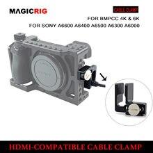 Magicrig hdmi-braçadeira de bloqueio de cabo compatível para sony a6500/a6400/a6300/a6000 câmera dslr gaiola kit de fotografia rig