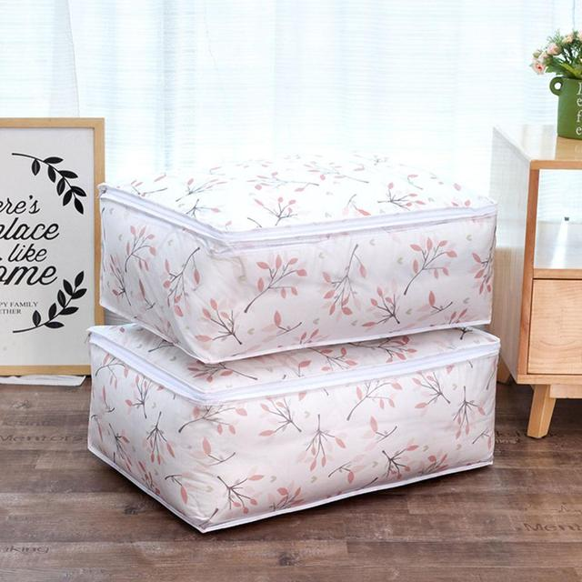 Flamingo Shape Quilt Storage Bag Home Clothes Pillow Blanket Travel Luggage Organizer Damp-proof Sorting 1