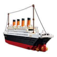 Titanic rms navio de cruzeiro cidade modelo kits de construção 3d blocos figuras educacionais diy brinquedos hobbies para crianças tijolos
