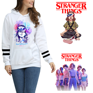 Image 2 - คนแปลกหน้า Hoodie ผู้หญิง Hoodie Sweatshirt กีฬาขนาดใหญ่ Hoodie 2019 แฟนเสื้อ 4XL สีขาวสินค้า