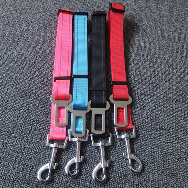 New Style Reflective Dog Safety Belt Dog Automobile Safety Belt Pet Traction Rope