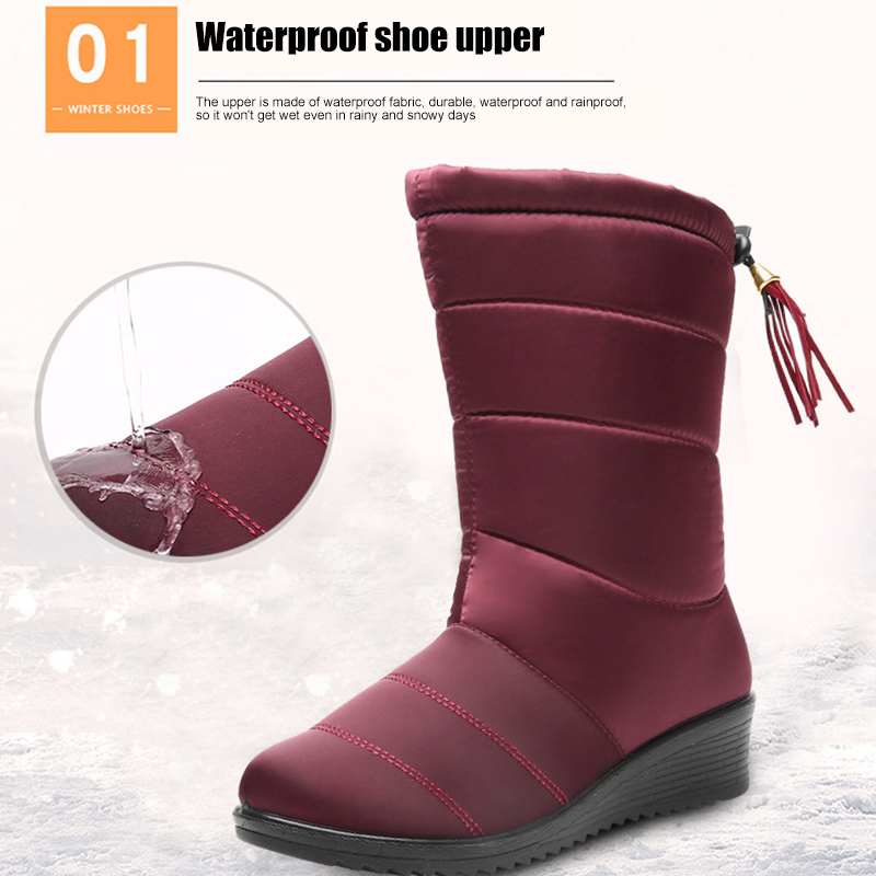 Women Snow Sneakers Boots Shoes Outdoor Anti-Slip Waterproof Booties Winter Warming Best Sale-WT image