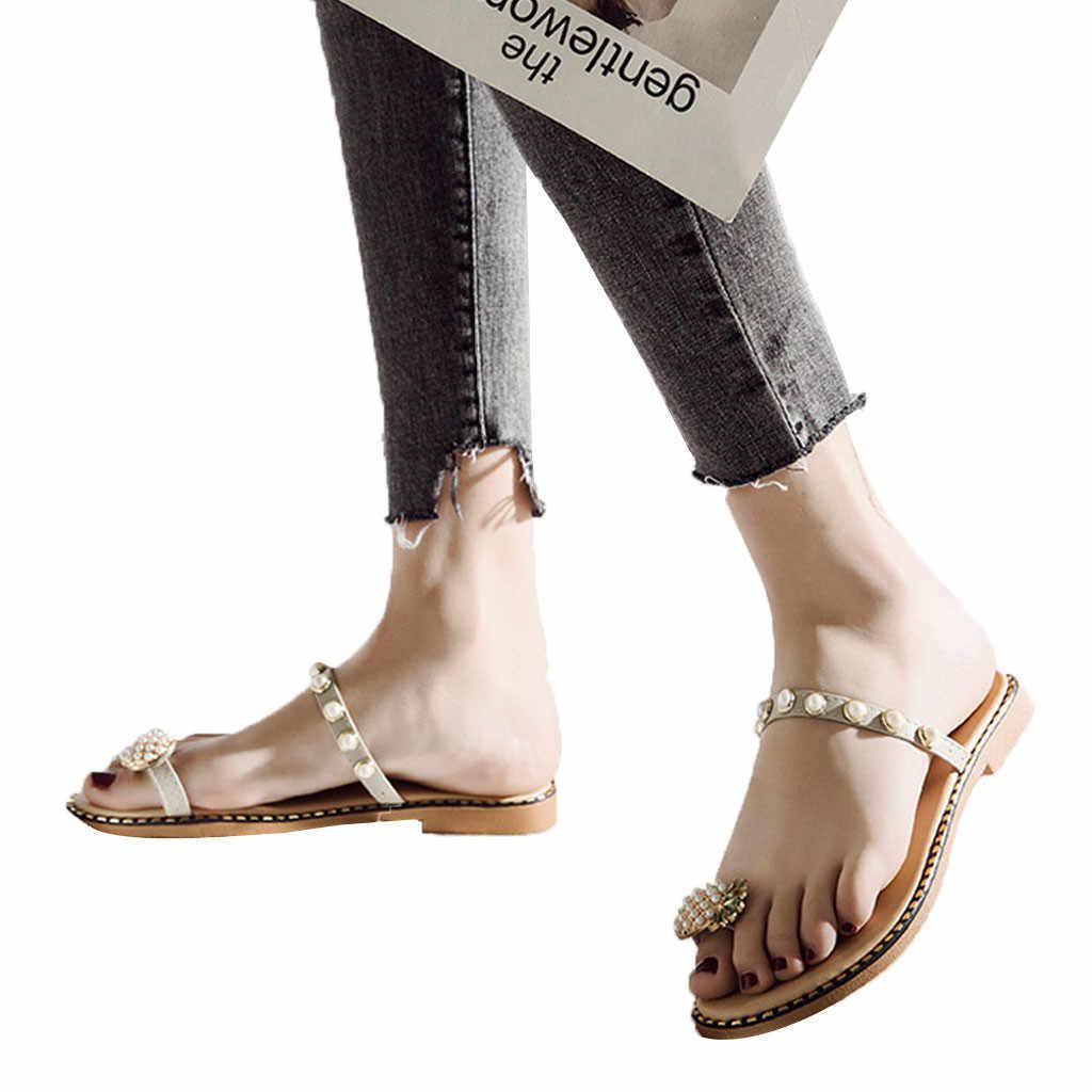 Nuovi pistoni delle Donne Delle Donne a Fondo Piatto Pantofole Studenti di Moda Della Clip Della Punta Dei Sandali di Estate Scarpe Da Spiaggia Scarpe Da Donna di Marca di lusso #1