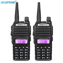 Baofeng UV 82 ثنائي النطاق VHF 136 174MHz/UHF 400 520MHz المحمولة باليد لاسلكي تخاطب طويلة المدى الهواة اتجاهين راديو هام