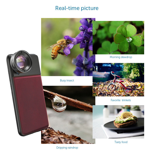 APEXEL HD optic camera phone lens 50mm super macro lens  with 17mm thread phone case for iPhonex xs max Samsung s9 all smartphon 2