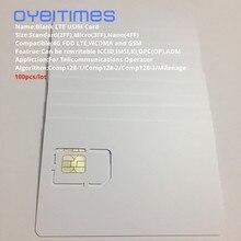OYEITIMES Blank SIM Card 4G LTE Programmable Mobile Phone ICCID IMSI PIN PUK ADM KI Milenage COMP128 Algorithm