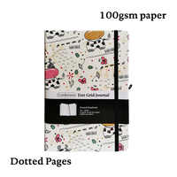 Cow Bullet JournalDot Grid Hard Cover A5 PU Notebook Elastic Band Travel Diary Dotted Planner Bujo