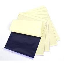 Copia en PAPEL de transferencia de papel de tatuaje de plantilla térmica de carbono de 4 capas, papel de calco, accesorios de suministro de tatuaje profesional