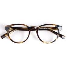 Frauen runde brillen rahmen schwarz/havanna Italien handgemachte acetat