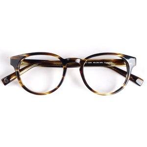 Image 1 - Women round eyeglasses frames black/havana Italy handmade acetate