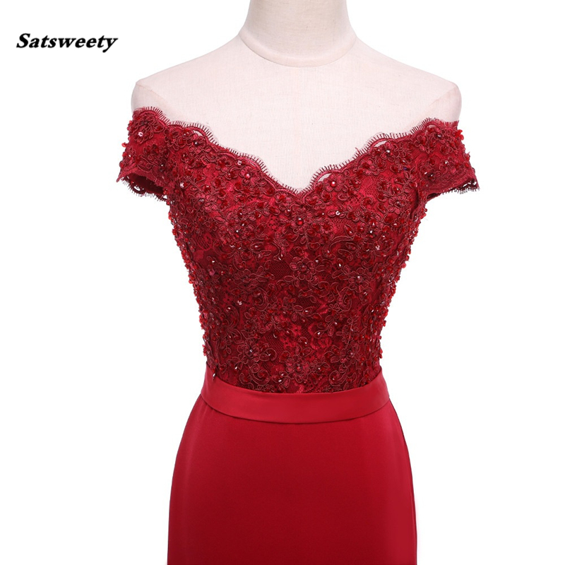 Red 2021 Cheap Bridesmaid Dresses Under 50 Mermaid V Neck Cap Sleeves Appliques Lace Backless Wedding Party Dress
