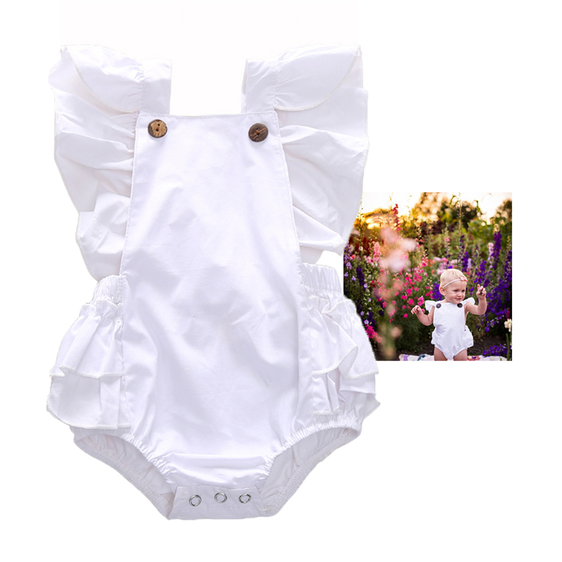 0 24M Infant Romper Newborn Baby Girl Onesie Ruffle Skirt Baby Bodysuits Baby Twin Clothes 1st Birthday Boy Outfit in Bodysuits from Mother Kids