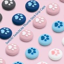 Cubierta de botón para Nintendo Switch, Linda pata de gato, Thumbstick de agarre, color rosa, accesorios para NS, Switch Lite