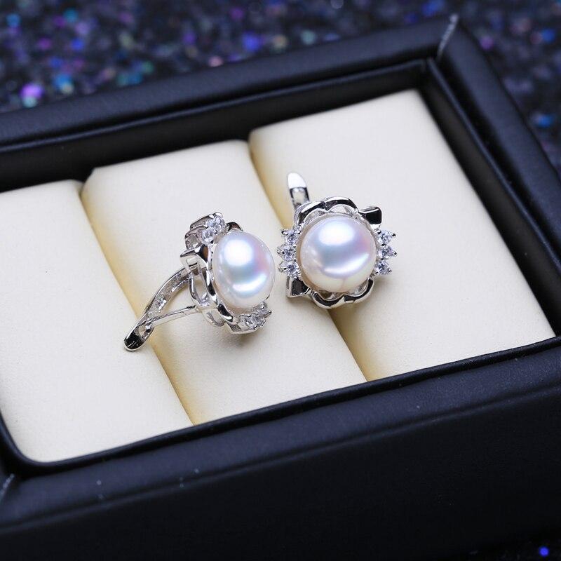 FENASY 925 Sterling Silver Natural Freshwater Pearl Earrings Bohemian Clip Earrings For Women Nice Party Wedding Jewelry