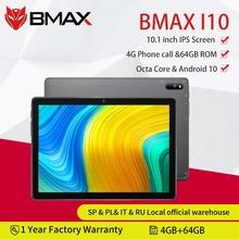BMAX i10 10.1Android 10 Tablet telefoniczny 1920x1080 T610 Octa Core 4GB RAM 64GB ROM 4G sieć type-c port tablety PC Dual Wifi