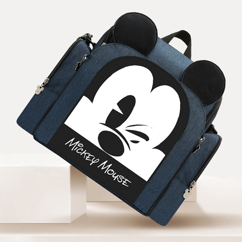Disney couche sac à dos bébé sac pour maman Mickey sac humide mode momie maternité couche organisateur dîner chaise sac Nappy voyage
