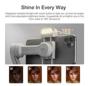 Image 3 - ZHIYUN – téléphone portable Q3 SMOOTH, stabilisateur portatif, cardan 3 axes, Flexible, avec lumière de remplissage, pour iPhone Xiaomi Samsung Android