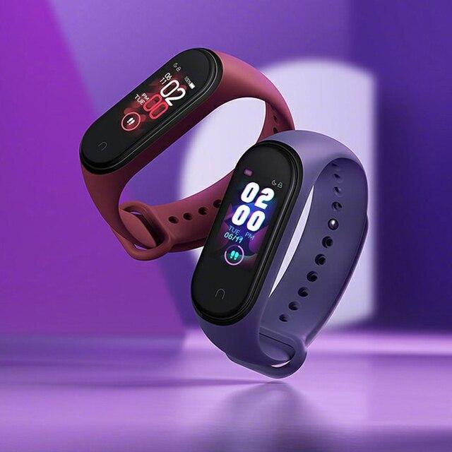 Xiaomi Mi Band 4 tętno Fitness kolorowy ekran dotykowy Miband 4 inteligentna bransoletka 135mAh Bluetooth 5.0 nadgarstek muzyka