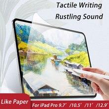 Para ipad pro 9.7 pro 10.5 11 11 11 12.9 paperpaperlike protetor de tela como escrever no papel para ipad pro 12.9 paper papel como película protetora