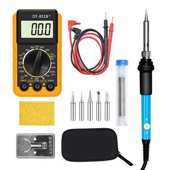 Multifunctional household engineering thermostat electric soldering iron pocket digital multimeter 12-piece welding repair tool