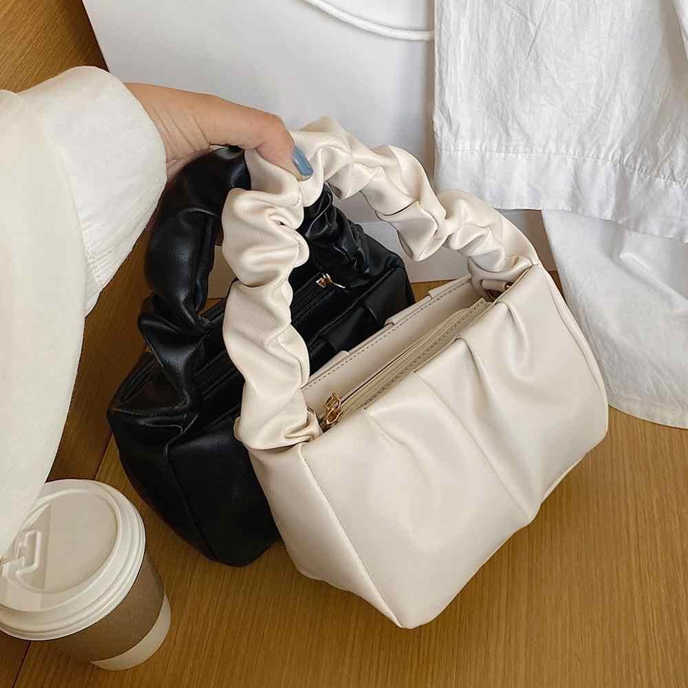 PU Leder Wolke Tragetaschen Für Frauen 2020 Einfarbig Schulter Umhängetasche Weibliche Handtaschen und Geldbörsen Reise Totes Weichen kupplung