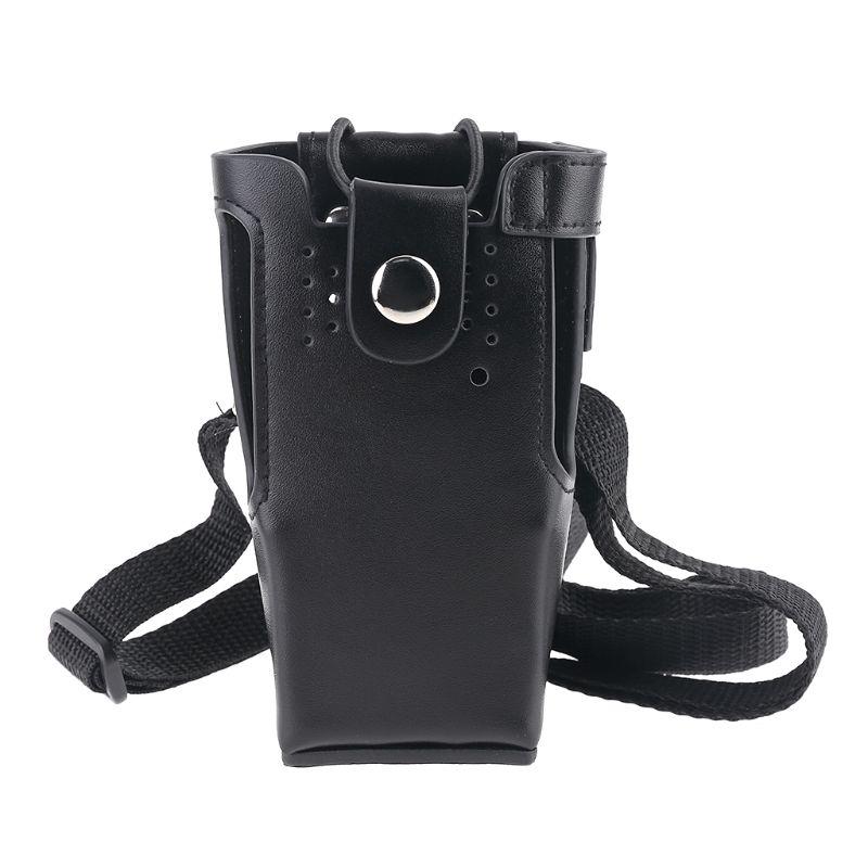 Leather Case Holder Storage Bag Pouch for Motorola Radio GP328/338 PRO5150 HT750 AXYF