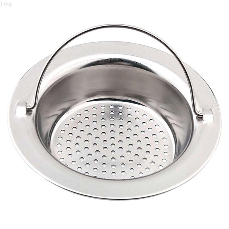 Stainless Steel Sink Strainer Shower Floor Drain Bathroom Plug Trap Hair Catcher Kitchen Sink Filter Floor Cover Drainage