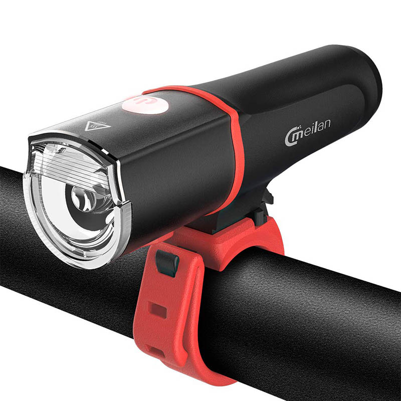 Meilan C4 Bike Light Set Usb Charging Led Bicycle Front Light Waterproof Headlights 60Lux Far Near Cycling Light Built in 2500MA|Bicycle Light| |  - title=