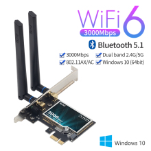 3000Mbps Wifi 6 Wireless AX200 Desktop PCIe Wifi Adapter Bluetooth 5.1 802.11ax Dual Band 2.4G/5GHz PCI Express Network Card