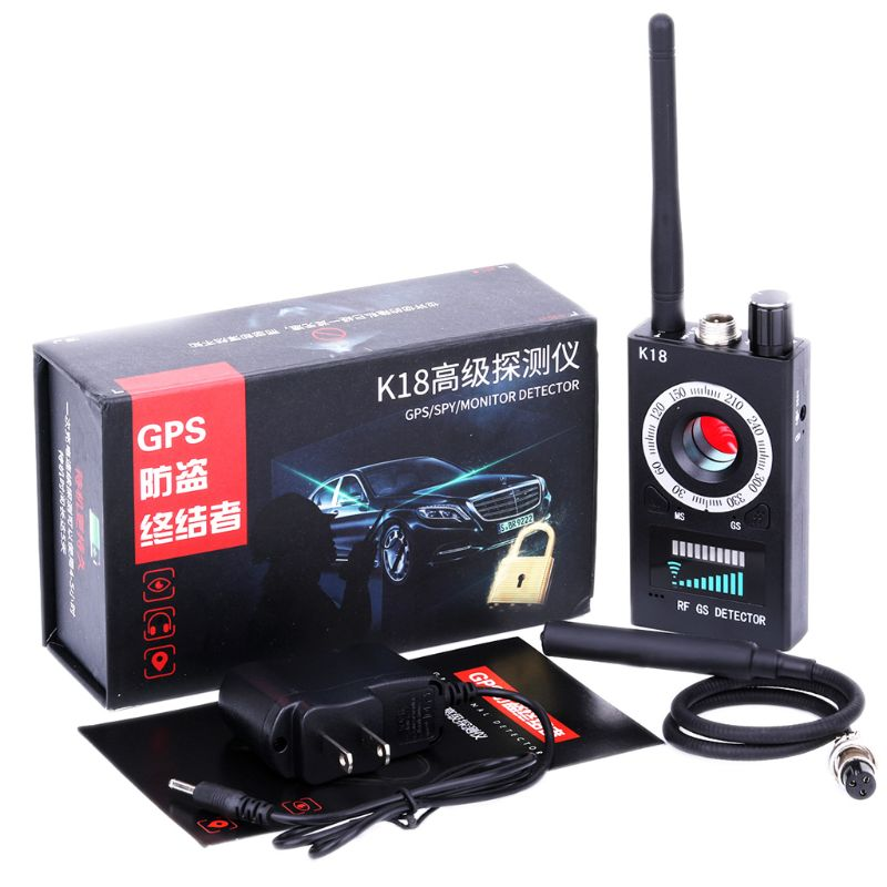 1MHz-6.5GHz K18 Anti Spy RF Detector Camera Wireless Bug Detect GSM Listening Device Finder Radar Radio Scanner