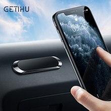 GETIHU magnetyczny uchwyt samochodowy Telefon metalowa płyta magnes Telefon góra stojak GPS wsparcie dla iPhone 12 11 Pro Max 7 8 Samsung Xiaomi