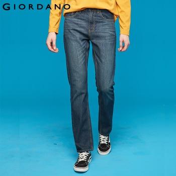 Giordano homme jean Denim jean élastique taille moyenne pieds étroits qualité coton Denim jean pantalons chuchotage Denim vêtements