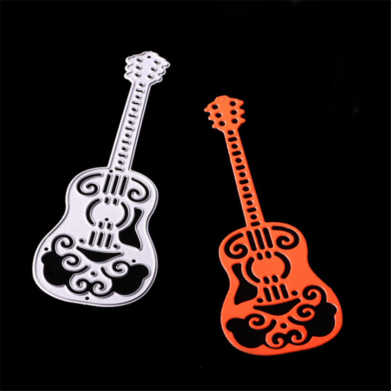 1pc Guitar Metal Cutting Dies Stencils for Scrapbooking DIY Cards Making Decor|Cutting Dies| - AliExpress