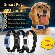LOREMYI Pet GPS Tracker,Collar Dogs Cats GPS Tracking Device Waterproof Dog GPS Positioner Locator Pink