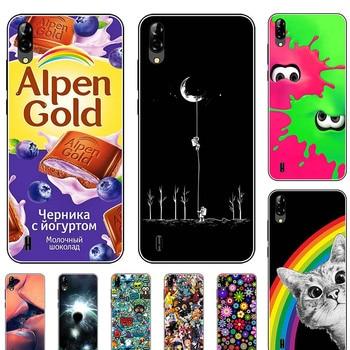 Перейти на Алиэкспресс и купить Силиконовый чехол для Blackview A60 6,1 дюйма, чехол из мягкого ТПУ, защитный чехол на заднюю панель телефона, бампер с рисунком волка розы цветов