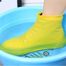 1 para lateksowych butów przeciwdeszczowych wielokrotnego użytku silikonowy wodoodporny pokrowiec na buty antypoślizgowe kalosze na deszcz kalosze akcesoria do obuwia tanie tanio Bigsweety CN (pochodzenie) Poliester Stałe 404684 Anti-slip and waterproof