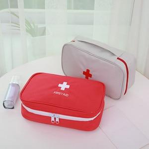Image 3 - Portable First Aid Kit Emergency Bag Waterproof Car Kits Bag Outdoor Travel Survival Kit Empty Bag 23*13*7.5cm