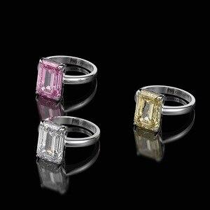 Image 2 - Wong Regen Classic 100% 925 Sterling Zilver Gemaakt Moissanite Edelsteen Wedding Engagement Diamanten Ring Fijne Sieraden Groothandel