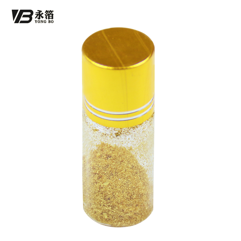 1g Per Bottle 24k Gold Leaf Small Pieces Edible Gold Flakes for Food Decoration Cake Ice-cream Chocolate Drinks Free Shipping