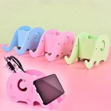 1pc Elephant Desk Pen Holder Organizer Pencil Case Stand For Pens Office Accessories Also For Mobile Phone Pencil Holder(China)