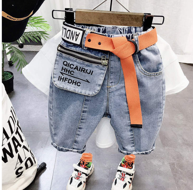 Boys' Personalized-Letter Print Shorts