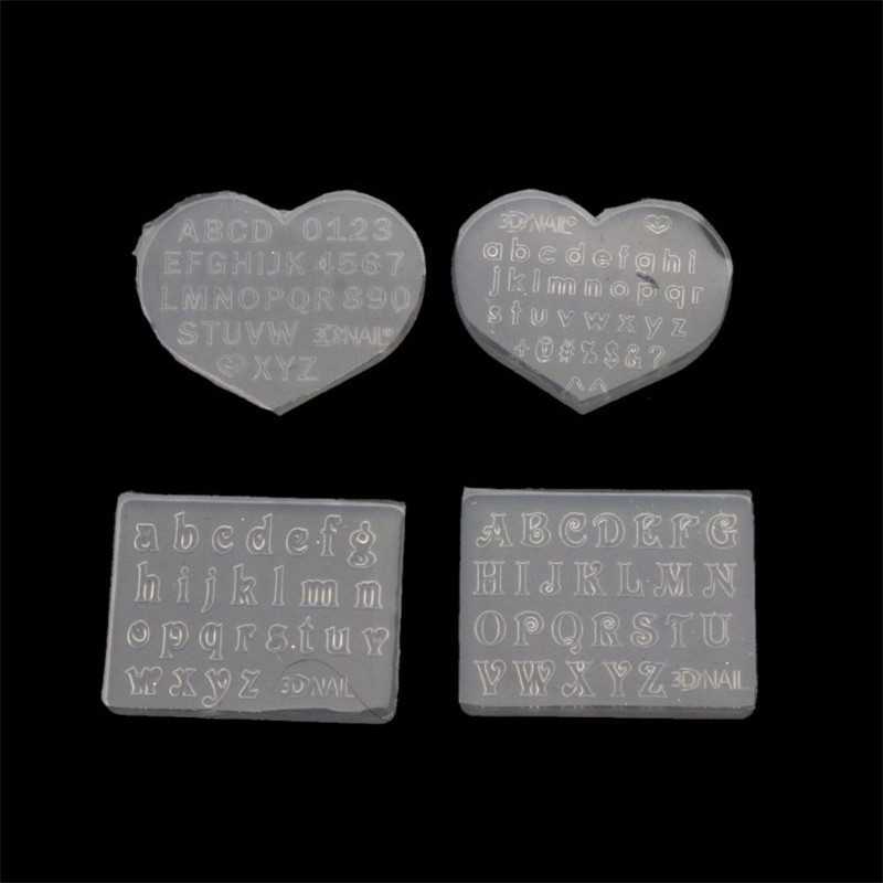 2Pcs 3mm Small Size Numbers Letters Mold Pendant Resin Silicone Molds Resin Message Fillings Making Jewelry Making Tools