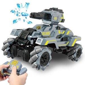 SHAREFUNBAY 2.4G remote control tank car drifting water bomb tank remote control car assault battle gesture induction tank car