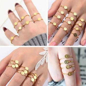 Juego de anillos de acero inoxidable para mujer, anillo de acero inoxidable...
