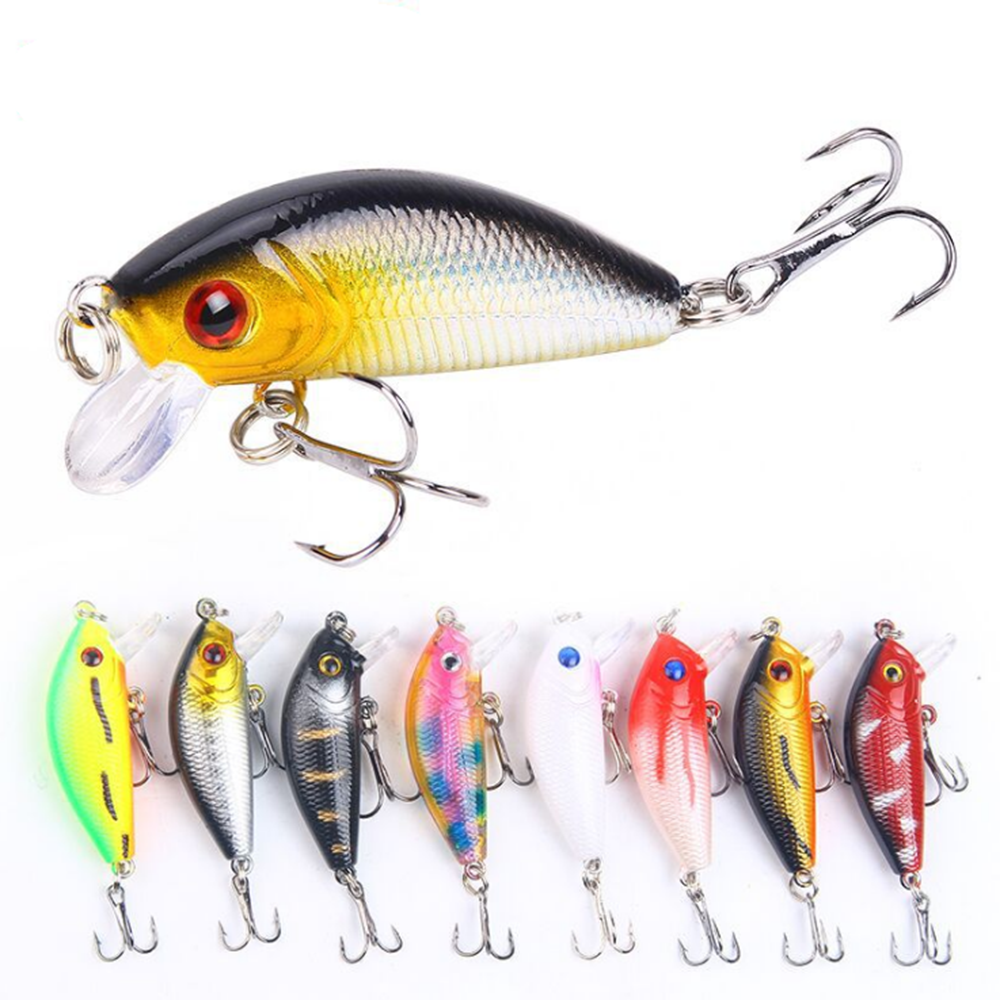 LEO 1Pcs Floating Wobblers Minnow Fishing Lure 50mm 4.2g Crankbait Isca Artificial Hard Bait Bass Lure  Fish Fishing Tackle